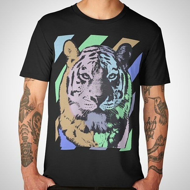 Tiger Retro Look AllOverPrint by crassco