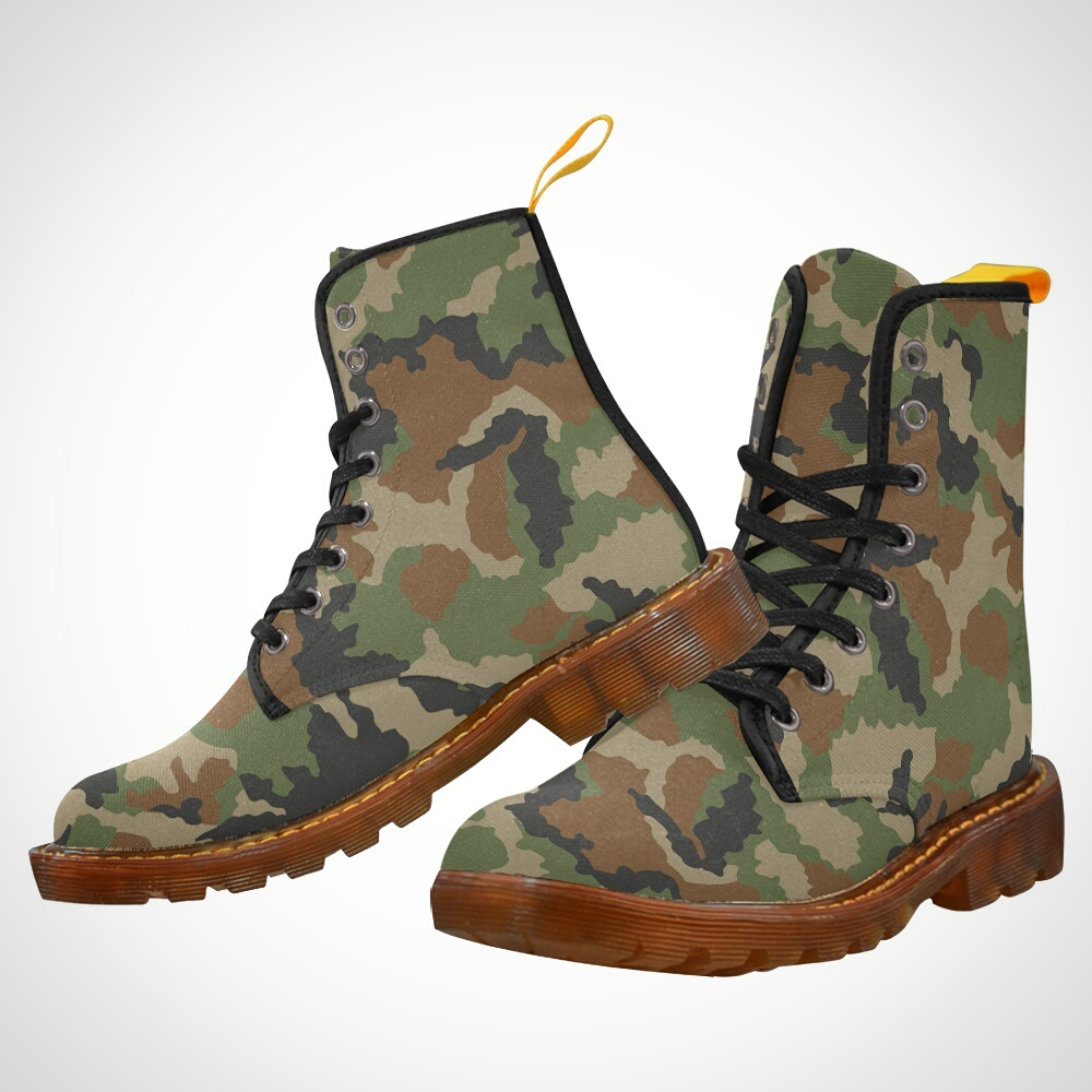 Camouflage Woodlands Military - CRASSCO Shoes by crassco.com